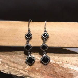 Barse Sterling & Onyx Earrings
